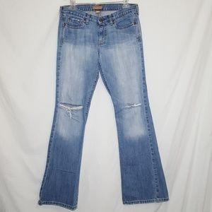 Abercrombie Size 8L Madison Flare Jeans 5 Pocket
